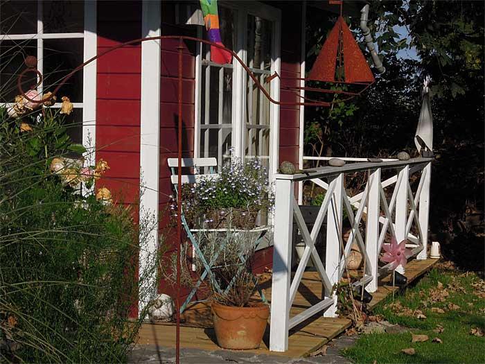 Herbststimmung an unserem großen Gartenhaus