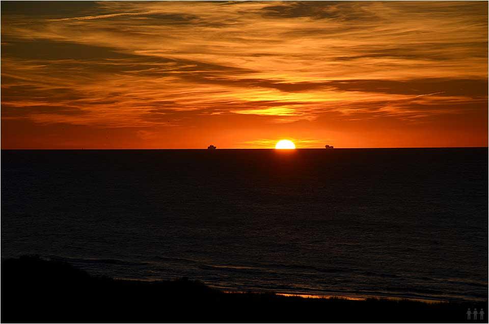 Sonnenuntergang im dänischen Ferienhaus