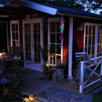 Das Gartenhaus bei Nacht