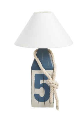 Maritime Lampe Boje 5 aus Holz