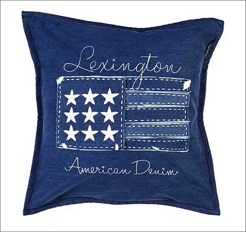 Lexington Denim Flag Deko-Kissenbezug 50 x 50 cm ohne Füllung