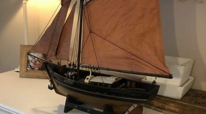 Maritimes Segelschiff Modell aus der Bretagne