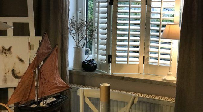 Maritimer Fenster Shutter weiss